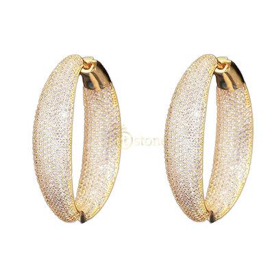 Argola Pavê Luxo Gold