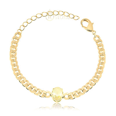 Pulseira Chain Oval Fancy Yellow