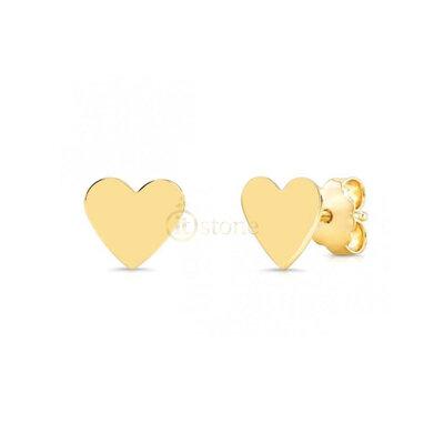 Brinco Coração Liso Gold