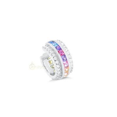 Piercing Falso Carré Rainbow Luxo (unidade)