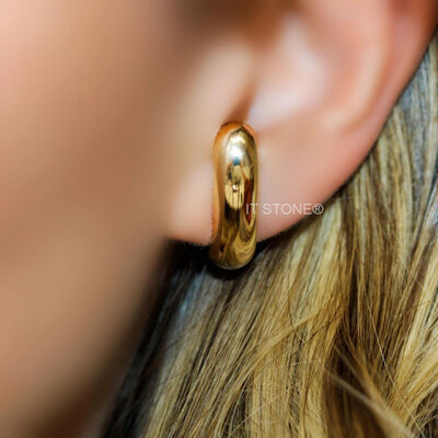 Ear Hook Bold Liso Gold