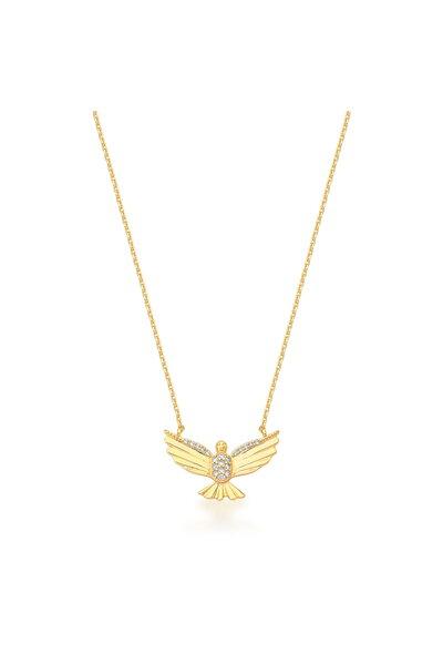Gargantilha Dourada Divino Espírito Santo com zircônias