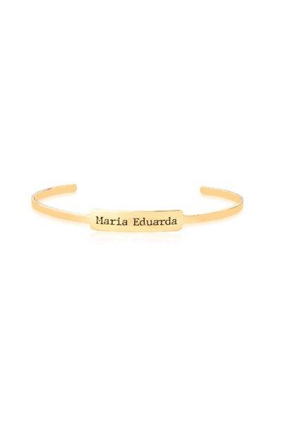 Bracelete placa com nome personalizado