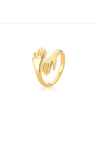 Anel dourado abraço
