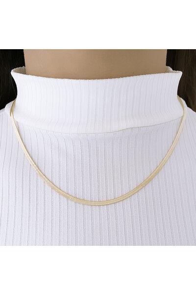 Gargantilha Dourada Fita Diamantada