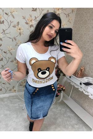 Saia Jeans Secretaria Fabiana