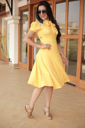 Vestido Poá Radiante