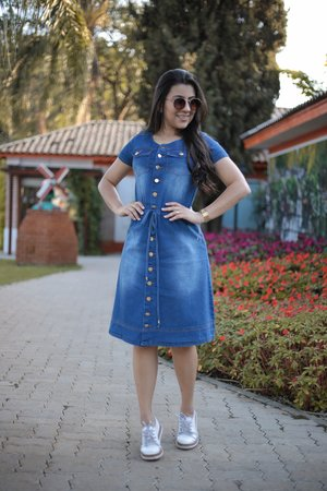 Vestido Jeans Sutileza