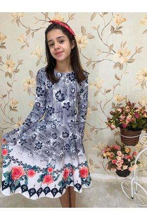 Vestido Juvenil Vento de Flores