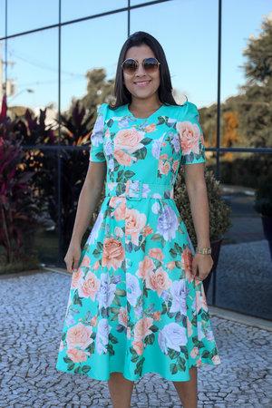 Vestido Boneca Flores Encantada