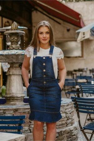 Jardineira Jeans Sabrina