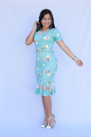 Vestido Tubinho Lilac