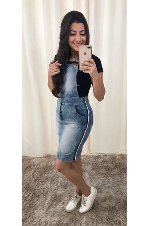 Jardineira Jeans Belly