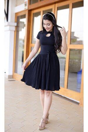 Vestido Plissado Black