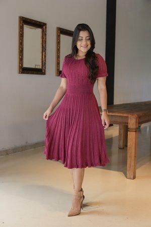 Vestido Tricot Rosa Pink