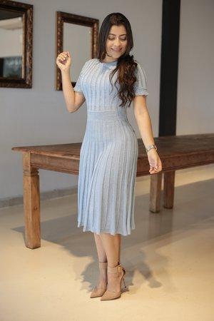 Vestido Tricot Azul Bebe