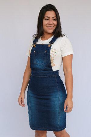 Jardineira Jeans Brenda