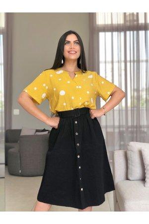 Saia Midi Dama Perfeita + Blusa Poá ao Sol
