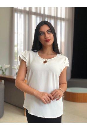 Blusa Branco Brilho