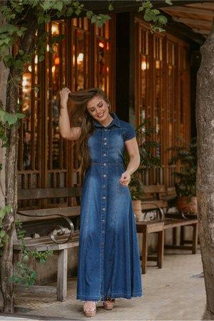 Vestido Longo Jeans Mirena
