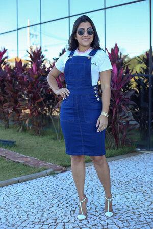 Jardineira Jeans Marcela