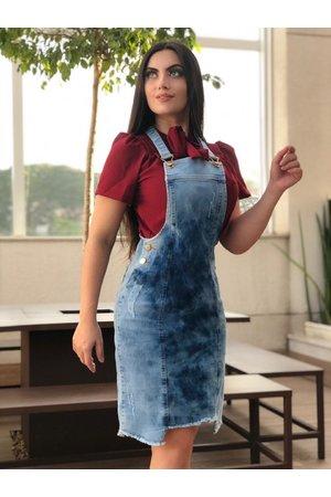 Jardineira Jeans Agatha