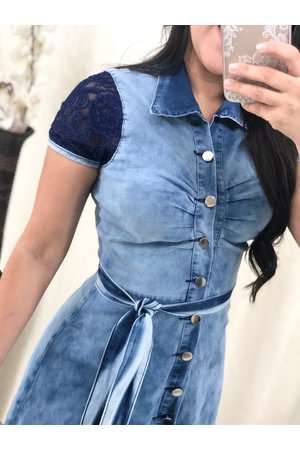 Vestido Jeans Claro Dalila