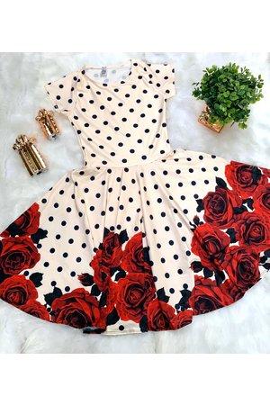 Vestido Juvenil Buque de Rosas