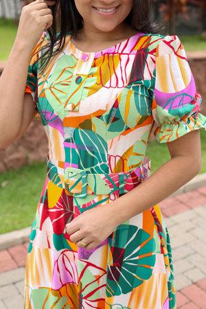 Vestido Midi Arvore Encantada