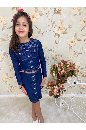 Vestido Juvenil Quadradinho