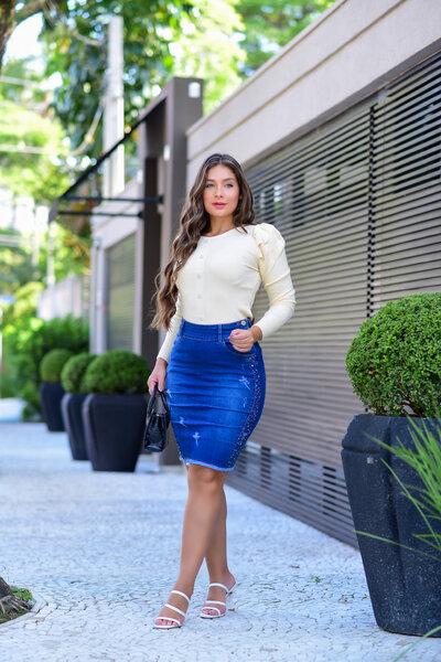 Saia Jeans Yasmine