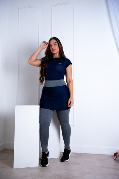 Conjunto Fitness Rosalia Azul Marinho