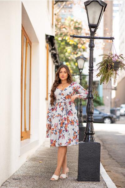 Vestido Boneca Floral