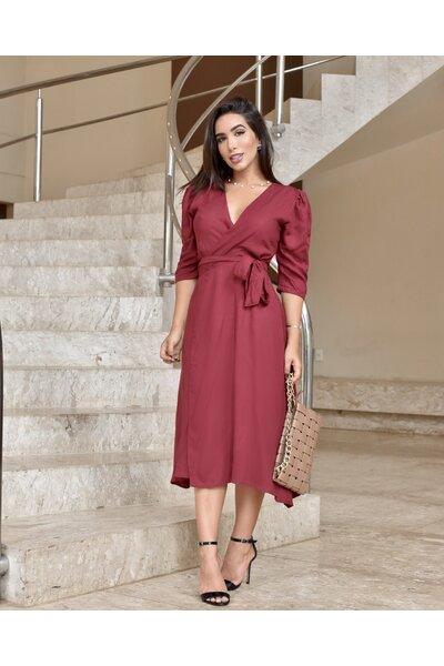 Vestido Transpassado Rafaela