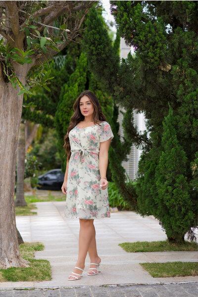 Vestido Levinho Floral Nó
