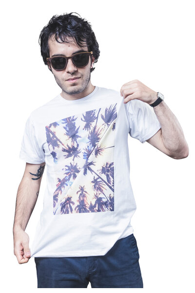 Camiseta Palm Trees Guache