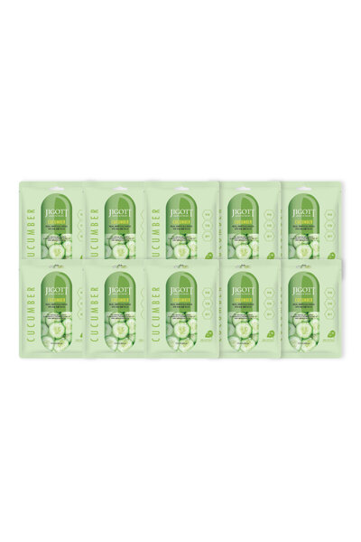 Kit 10 Jigott Cucumber Real Ampoule Mask 27ml