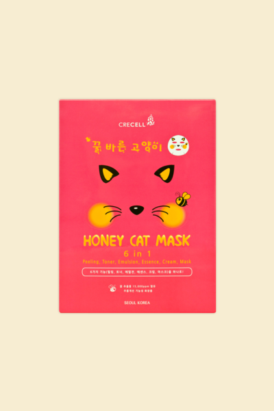 Crecell Máscara Facial Honey Cat Mask 25ml