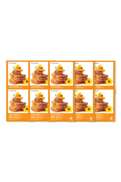 Kit 10 Wizyoung Royal Jelly Collagen Essence Mask Pack 23g