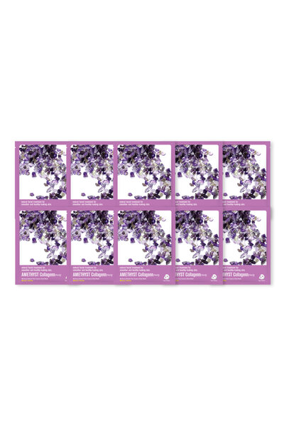 Kit 10 Wizyoung Amethyst Collagen Essence Mask Pack 23g