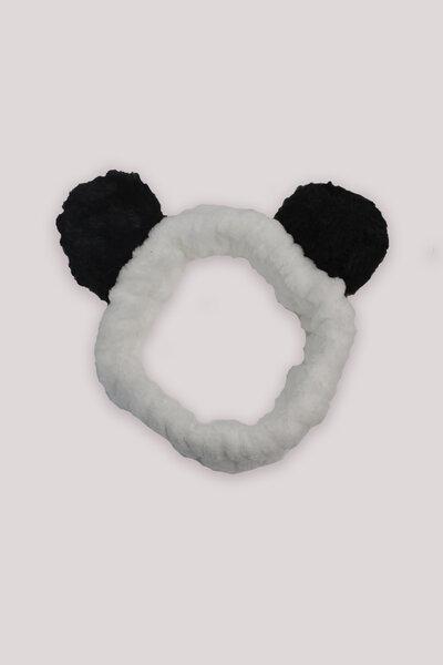 Faixa de Cabelo Estilo Panda Preta