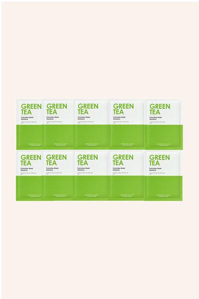 Kit 10 Boom De Ah Dah Máscara Facial de Chá Verde 25g
