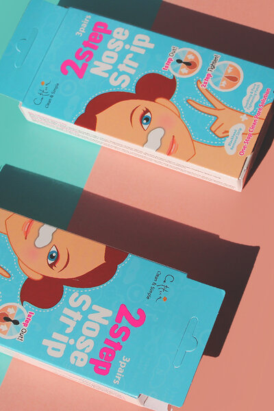 Cettua Clean & Simple Adesivo para Nariz 2 Step Nose Strip 2.5g