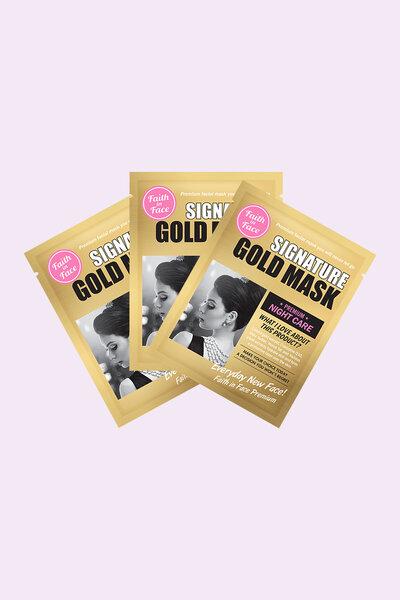 Kit 3 Faith In Face Máscara Facial Signature Gold Mask 25g