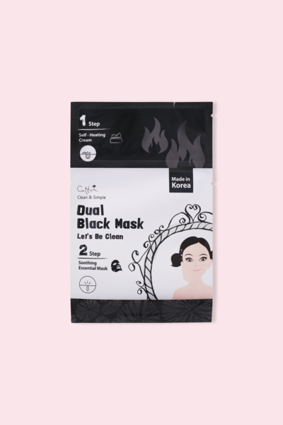 Cettua Clean & Simple Máscara Facial Let it be clean with Dual Black Mask 24g