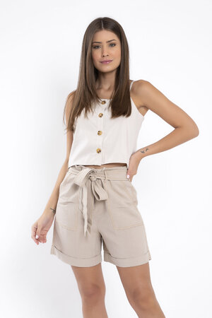 Blusa cropped alca fina regulavel