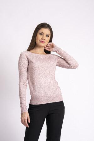 Blusa basica mesclada em tricot