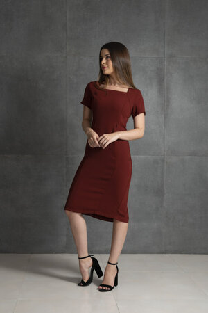 Vestido alfaiataria manga curta
