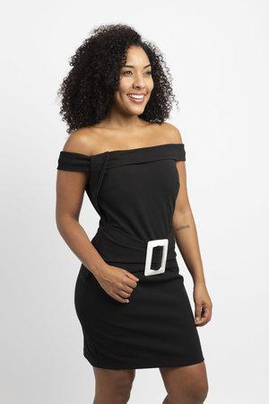 Vestido curto neocrepe com cinto