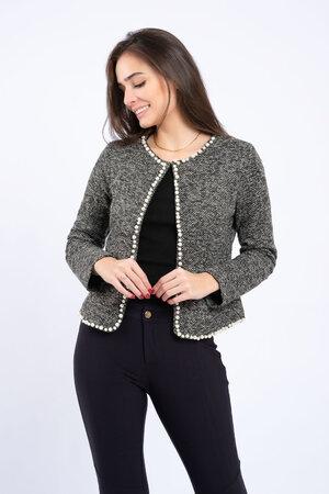 Casaqueto tweed perolas